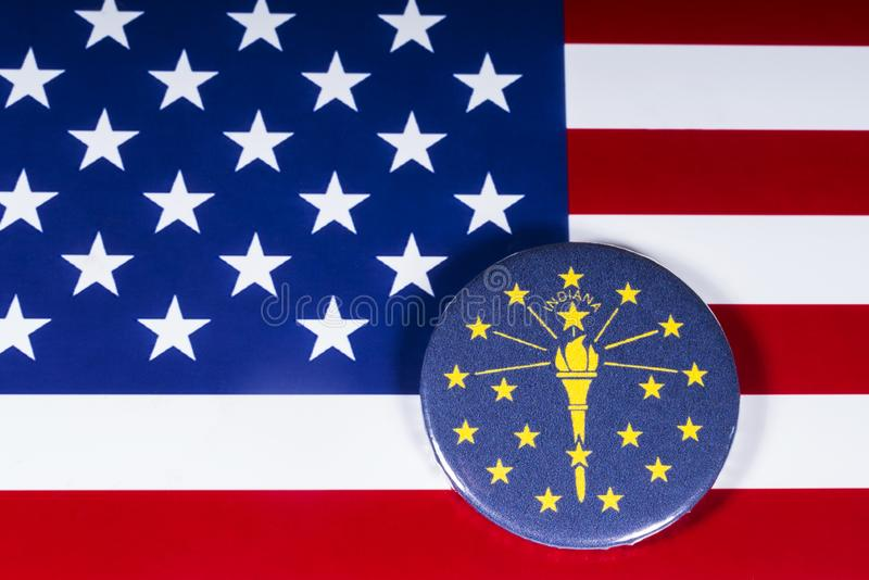 Lo stato dell'Indiana in U.S.A. fotografie stock