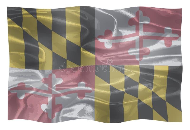 Lo stato di U.S.A. di Maryland illustrazione vettoriale