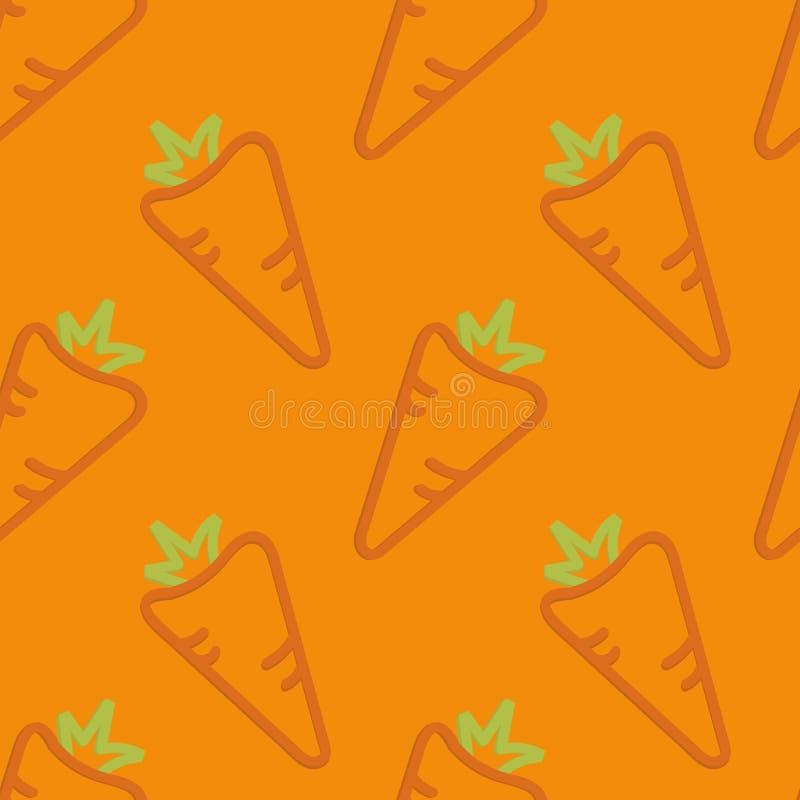 Lo stile del bambino senza cuciture del modello delle carote disegnato a mano royalty illustrazione gratis