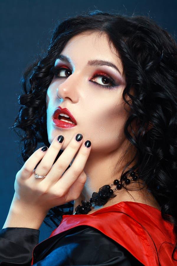 Lo stile del vampiro compone fotografia stock libera da diritti