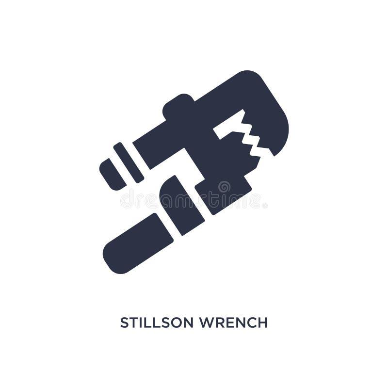 lo stillson strappa l'icona su fondo bianco Illustrazione semplice dell'elemento dal concetto degli strumenti illustrazione vettoriale