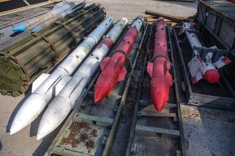 Lo stoccaggio dei missili e delle bombe fotografie stock libere da diritti