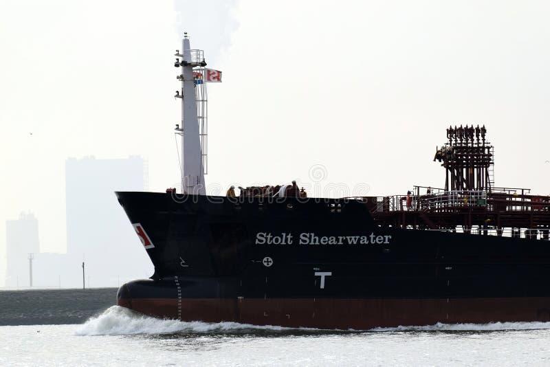 Lo Stolt Shearwater, STOLT SHEARWATER, una nave dell'autocisterna/chimici dei prodotti petroliferi fotografie stock