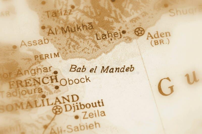 Lo stretto di Bab al-Mandab fotografia stock