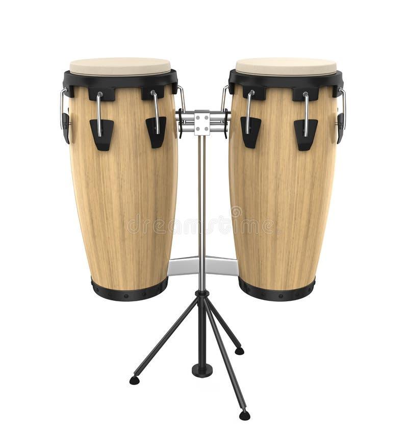 Lo strumento del tamburo della conga ha isolato royalty illustrazione gratis