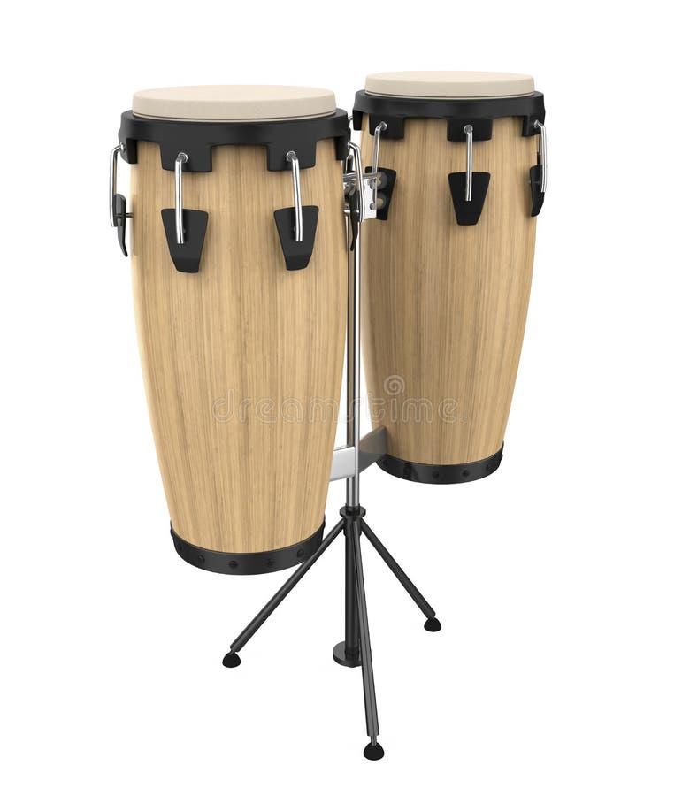 Lo strumento del tamburo della conga ha isolato illustrazione di stock