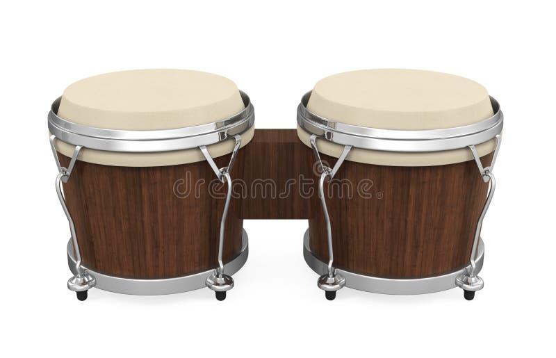 Lo strumento del tamburo di bongo ha isolato illustrazione di stock