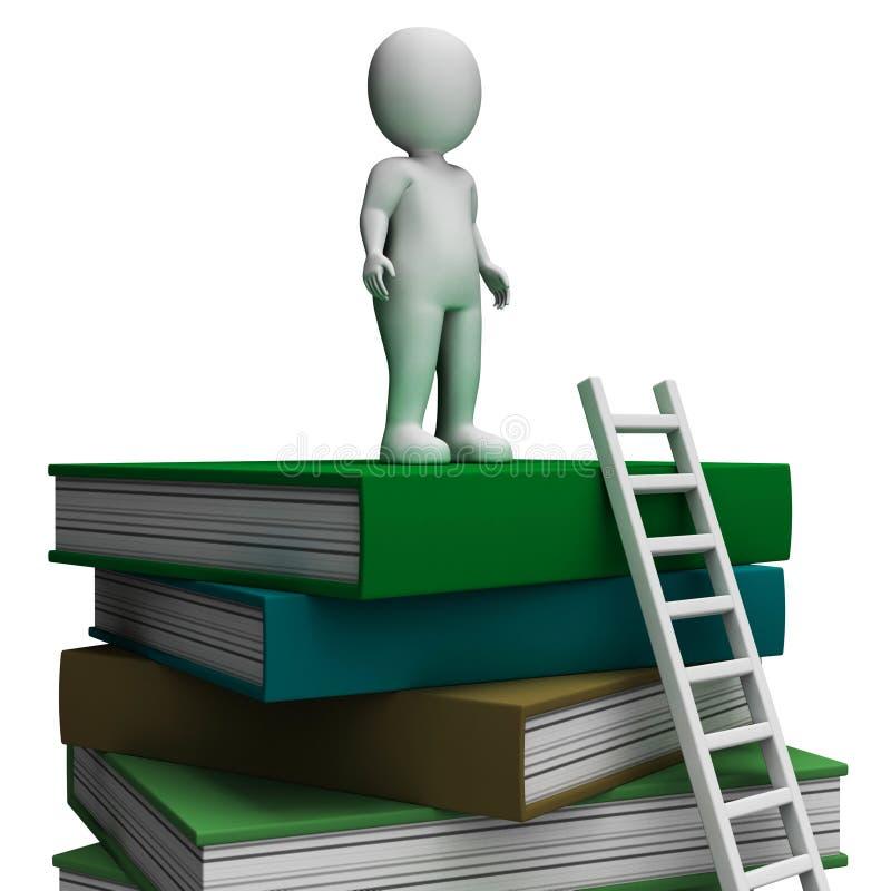 Lo studente On Books Showing ha istruito illustrazione di stock