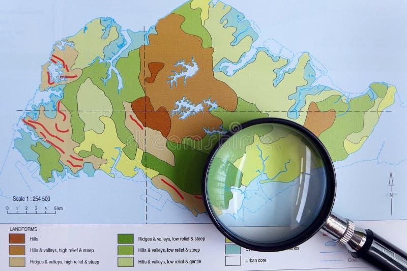 Lo studio della geografia contorna il concetto fotografie stock libere da diritti