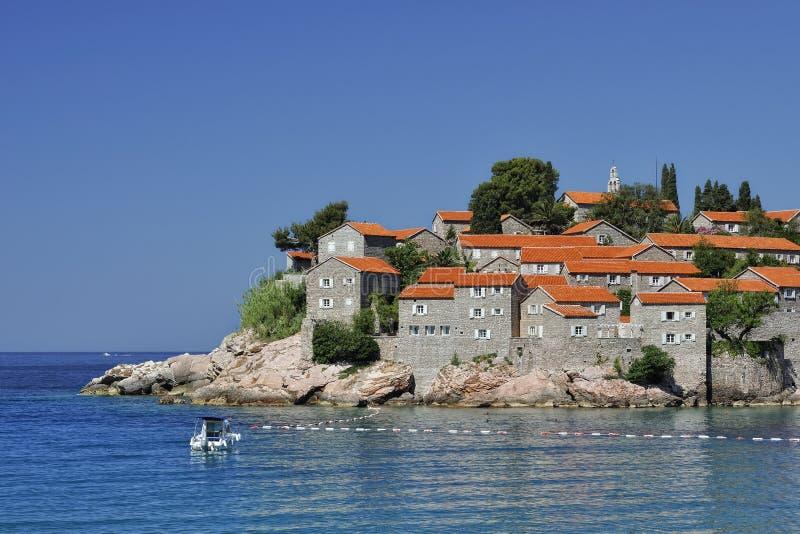 Lo SV. Isola di Stefan, Montenegro fotografie stock libere da diritti