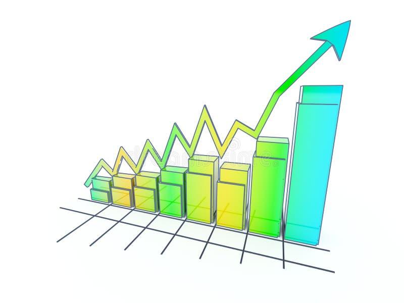 Lo sviluppo nel commercio e nell'economia. illustrazione di stock
