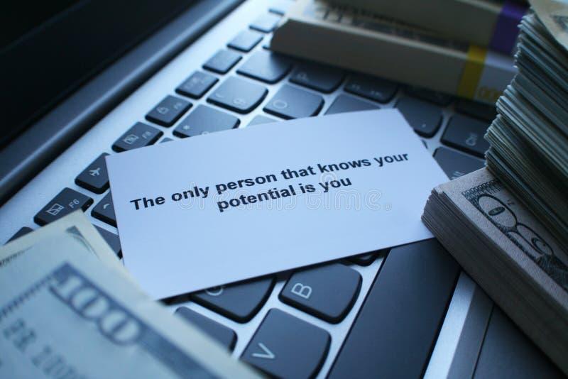 Lo sviluppo personale per stare bene a Person You Were Meant To diventa immagini stock
