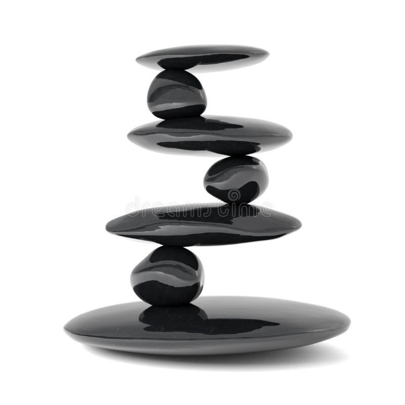 Lo zen lapida il concetto dell'equilibrio royalty illustrazione gratis