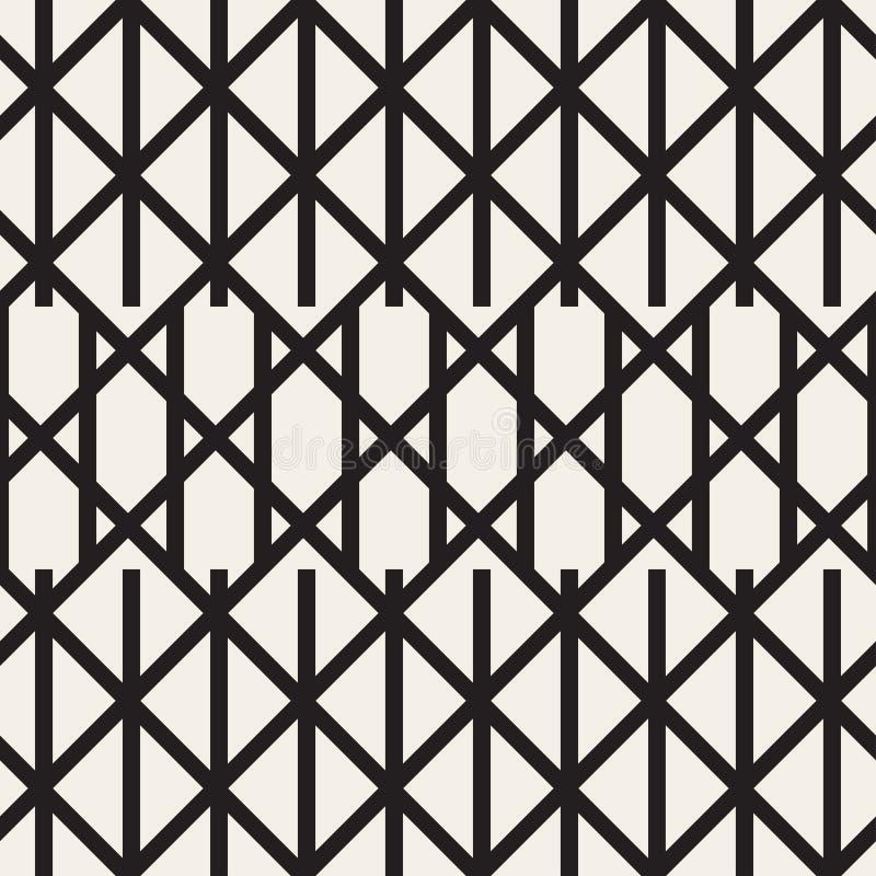 Lo zigzag allinea il modello senza cuciture geometrico illustrazione di stock