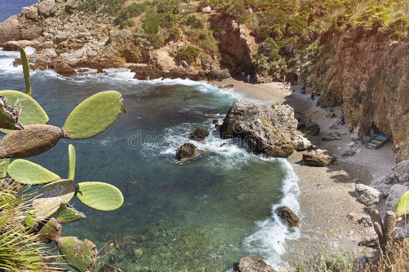 Lo Zingaro Nature Reserve, Sicily, Italy royalty free stock images