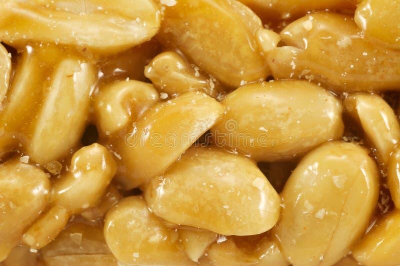 Lo zucchero ha lustrato il kozinak, arachidi immagine stock