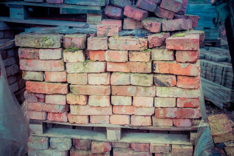 Load of bricks stock photo