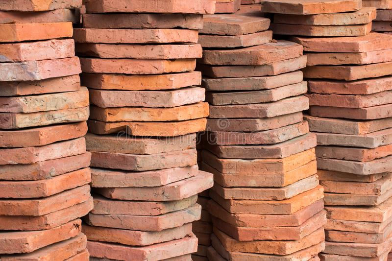 Load of bricks in stock for construction royalty free stock images