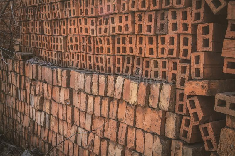 Load of bricks royalty free stock photos