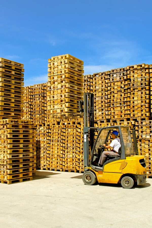 Load forklift royalty free stock images