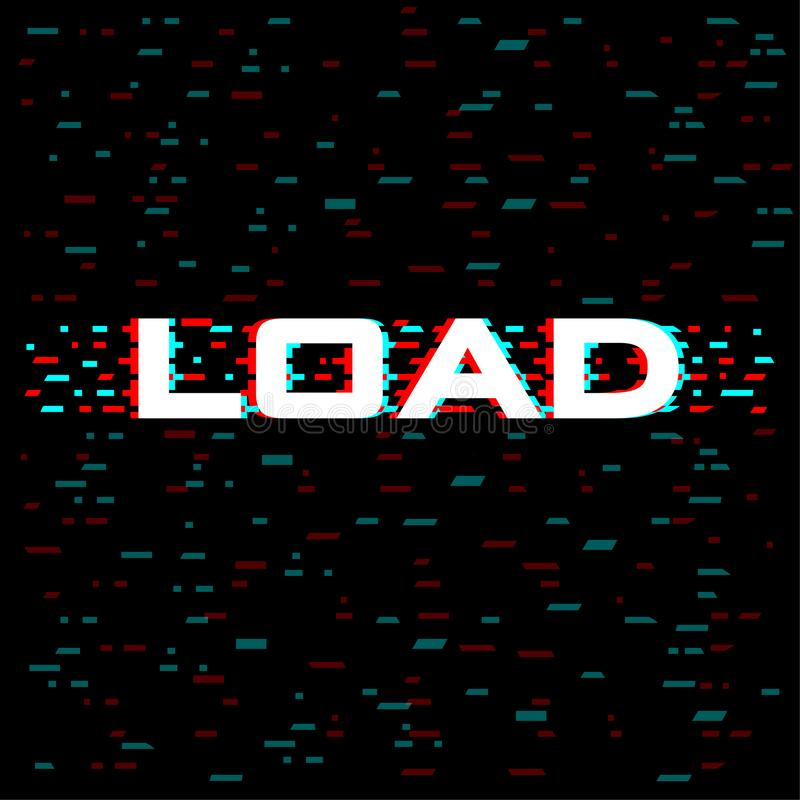 Load glitch style with lines and pixel concept for Abstract modern art background. Vector illustration vector illustration