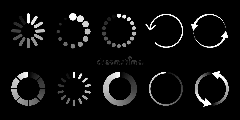 Load icon. Circle website buffer loader or preloader. royalty free illustration