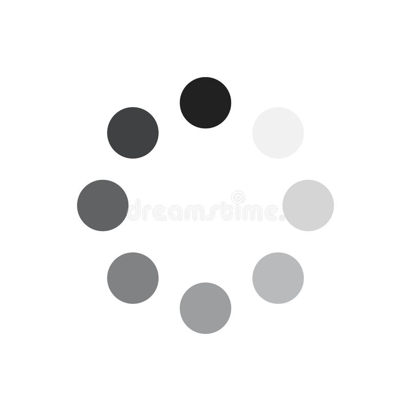 Load icon. Vector illustration. Gray download sign isolated on white background. Load icon in flat design. Data loading bar. Vector illustration royalty free illustration