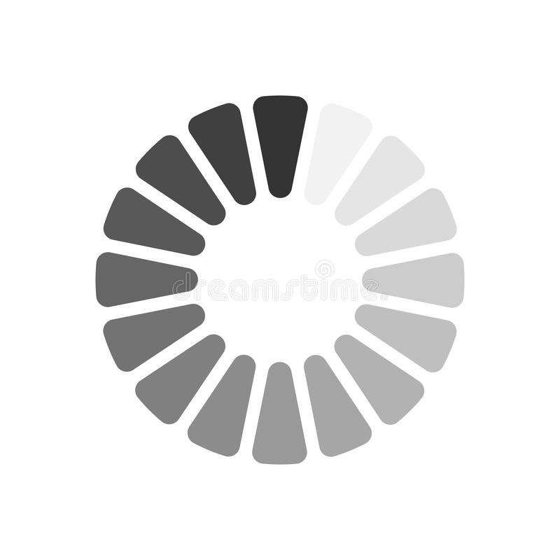 Load icon. Vector illustration. Gray download sign isolated on white background. Load icon in flat design. Data loading bar. Vector illustration vector illustration