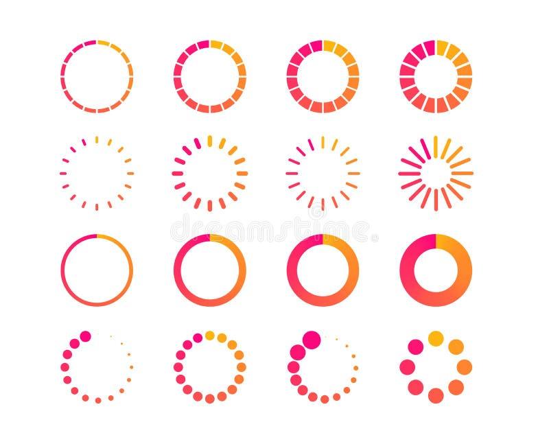 Load or preloader icon. Download or upload status. Circle website buffer loader icon. Vector vector illustration
