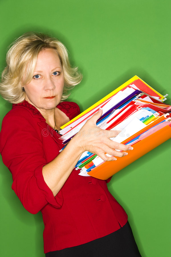 Loaded with Work royalty free stock photo