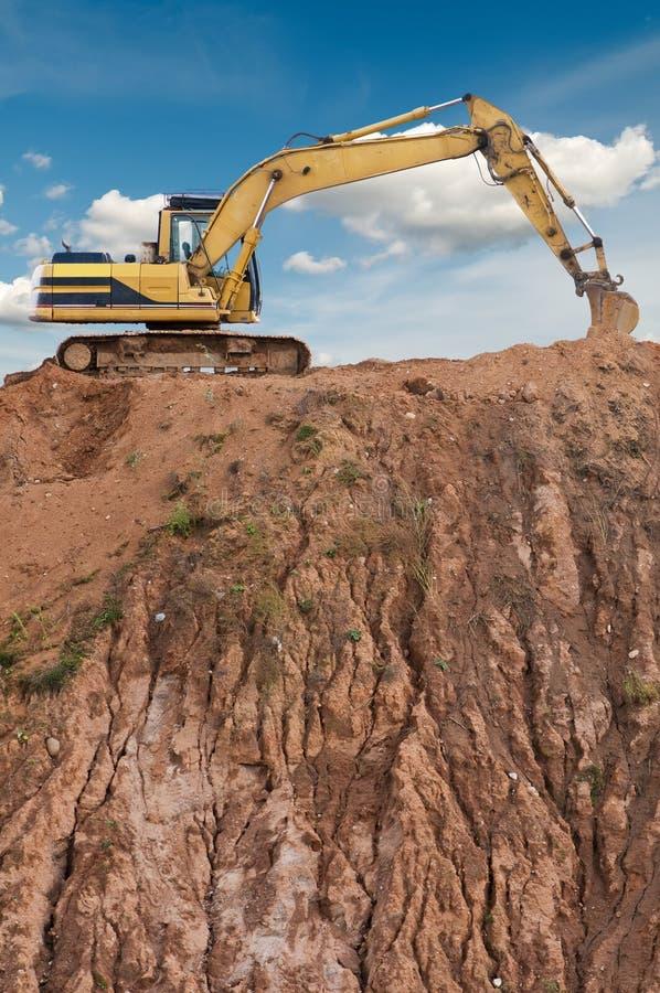 Loader excavator royalty free stock photo