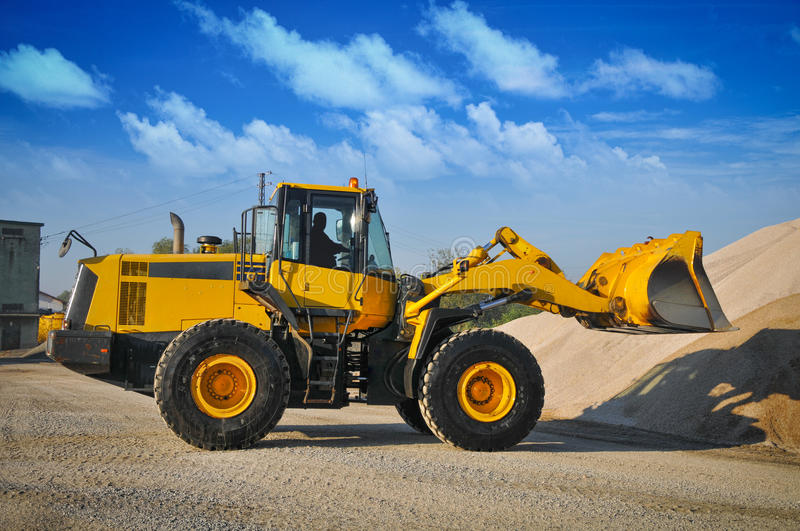 Loader excavator construction machinery equipment royalty free stock images