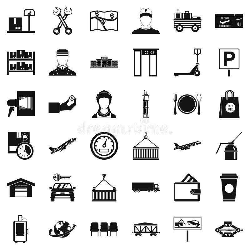 Loader icons set, simple style. Loader icons set. Simple style of 36 loader vector icons for web isolated on white background royalty free illustration