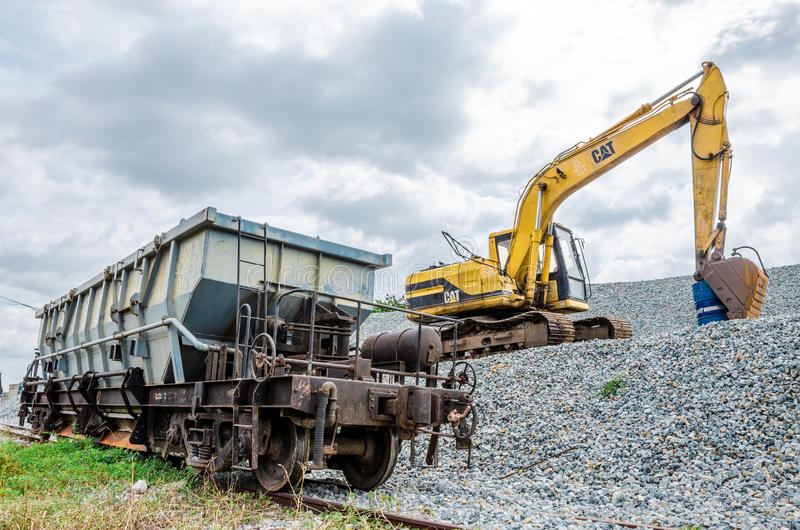 Download Loading editorial stock photo. Image of trams, backhoe - 33533798