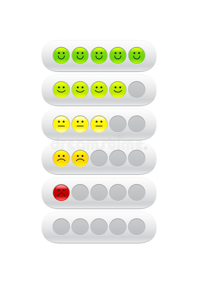 Loading bar with color smiles stock illustration