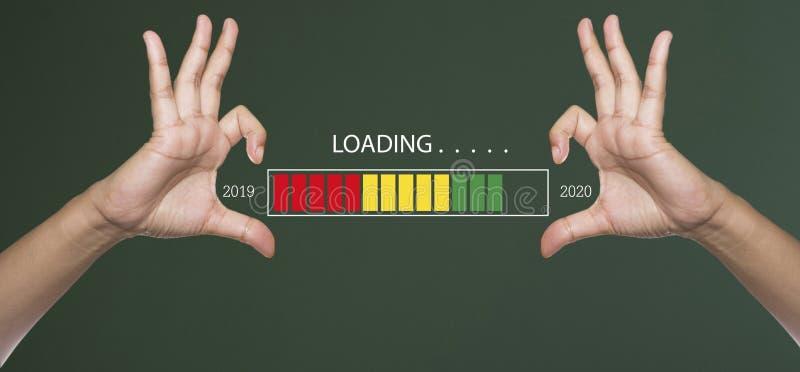 2020 loading bar stock photos