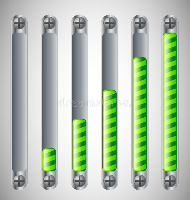 Loading Bar With Screws Royalty Free Stock Photography