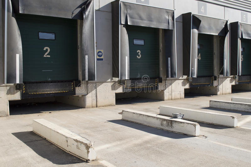 Download Loading Bay For Trucks With Numbers Stock Image - Image: 29380183
