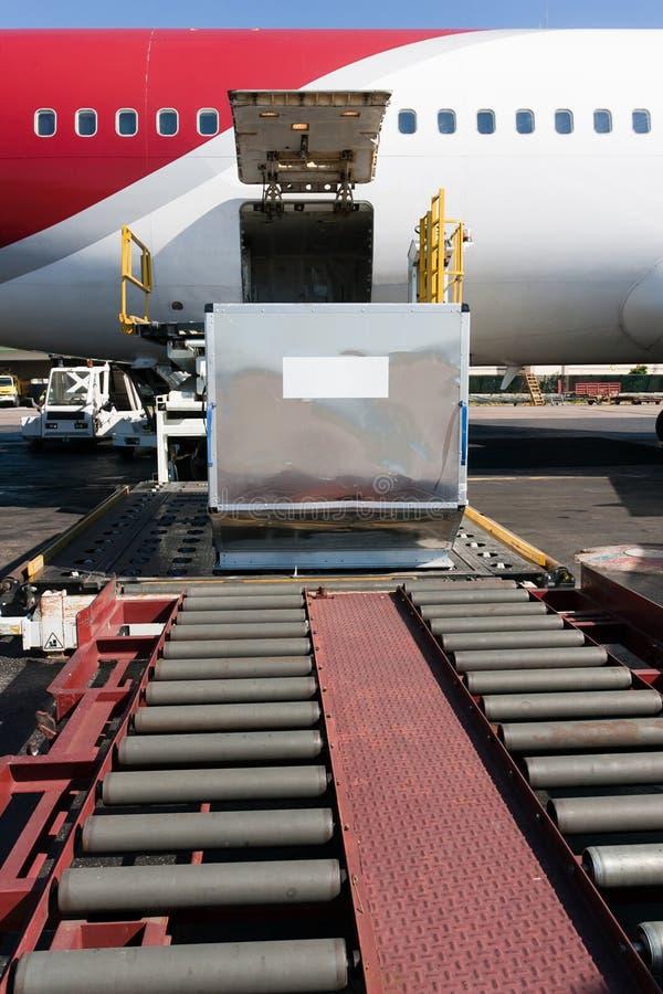 Loading cargo plane royalty free stock photos