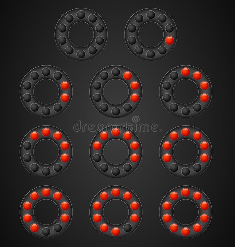 Download Loading circles stock illustration. Image of grey, circle - 25200116