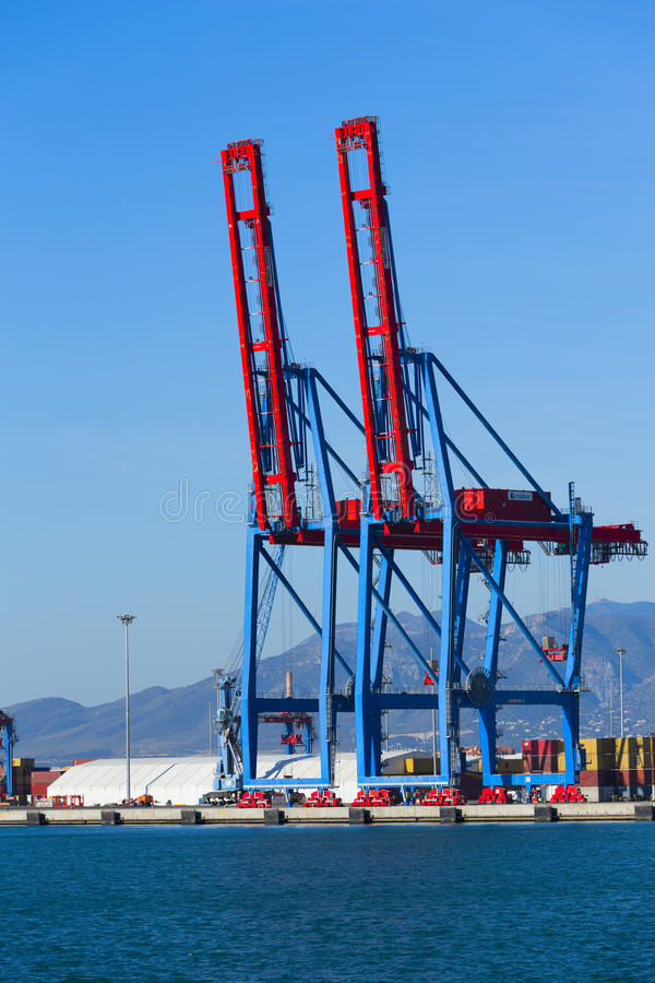Loading Cranes royalty free stock images