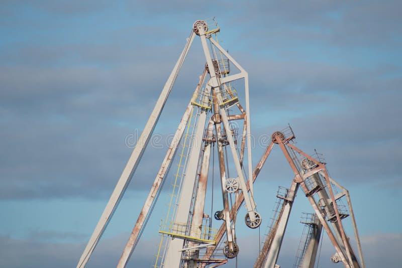 Loading cranes royalty free stock photos