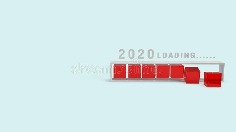 2020 loading 3d rendering for holiday content royalty free stock photography
