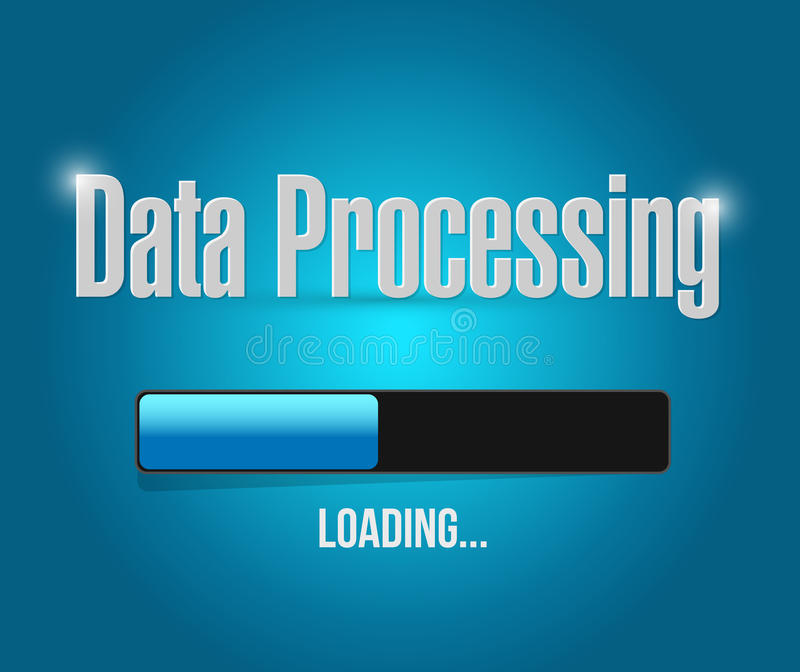 Loading data processing illustration design. Over a blue background stock illustration