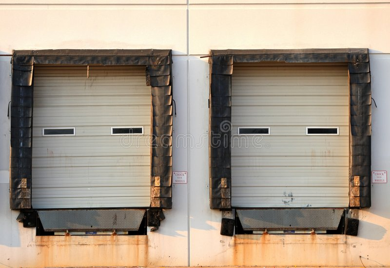 Loading Docks. Sit idle at this building stock photography