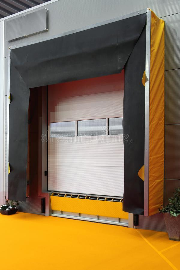 Loading Door. Cargo Loading Door Ramp at Distribution Warehouse Depot royalty free stock photos