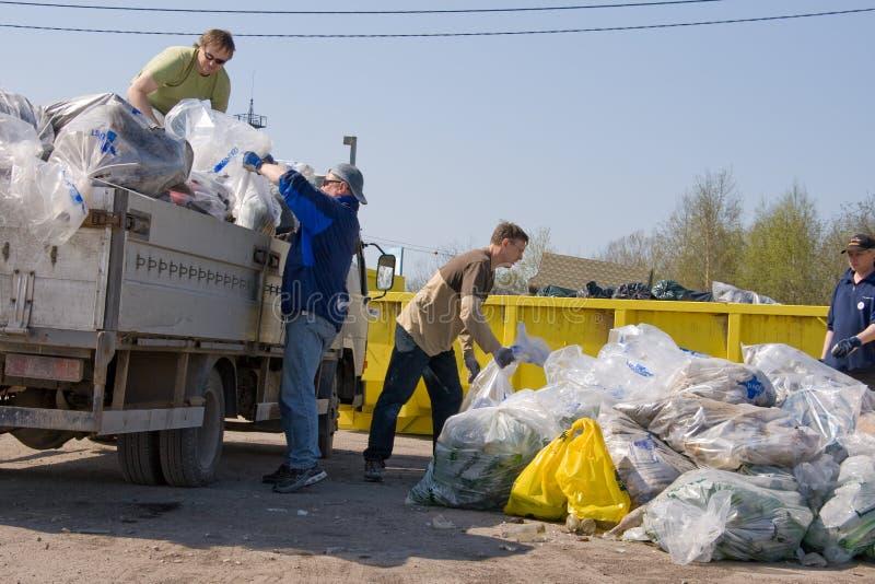Loading garbage royalty free stock photo
