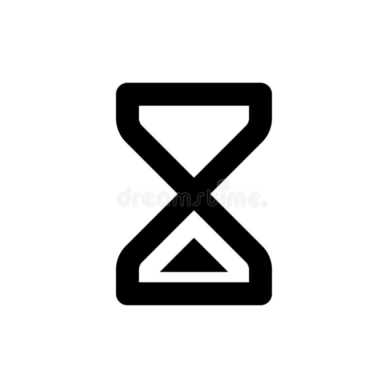 Loading icon. Sand watch sign. Favorite illustration design. Vector design for sticker. Logo branding sign stock illustration