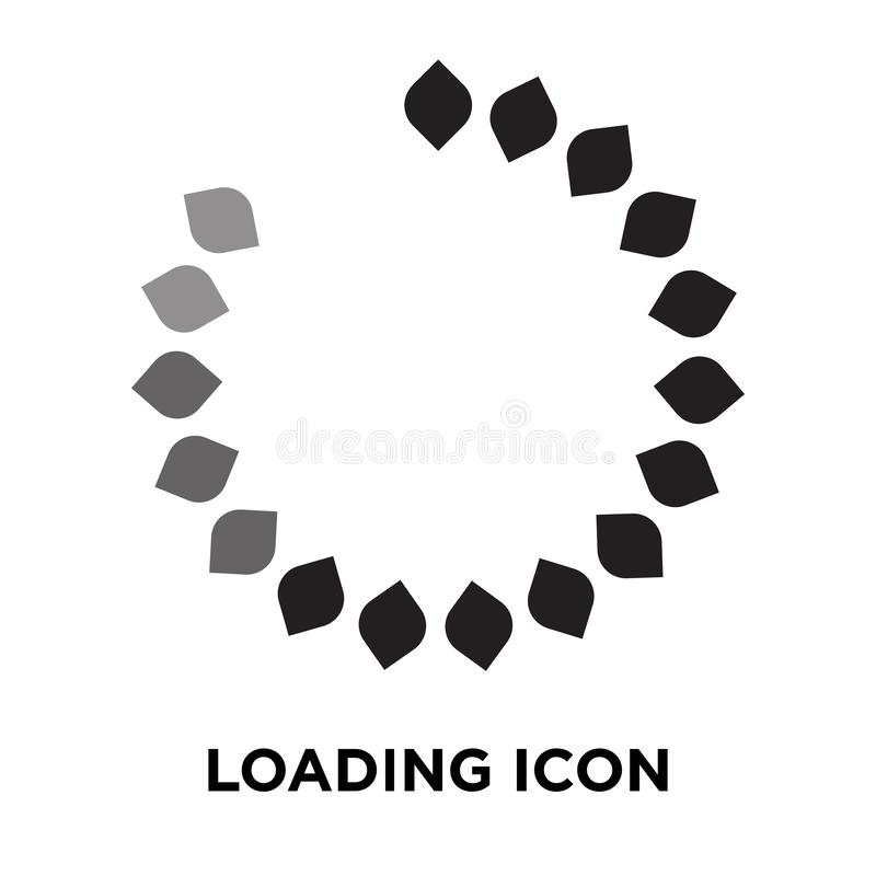Loading icon vector isolated on white background, logo concept o vector illustration