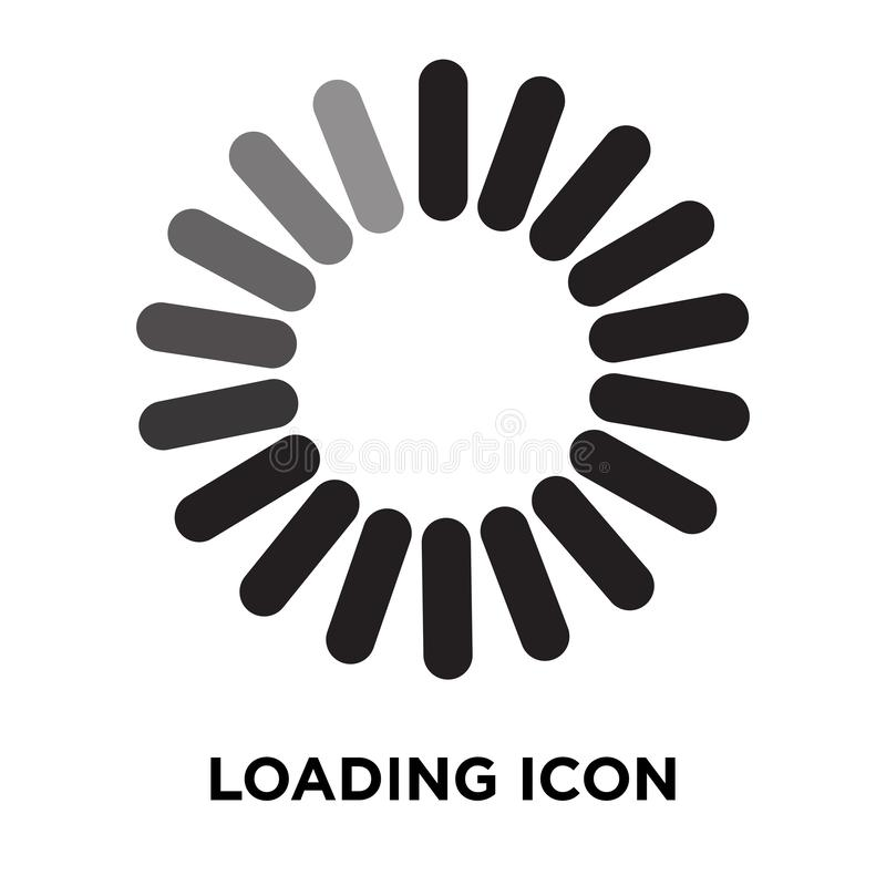 Loading icon vector isolated on white background, logo concept o royalty free illustration